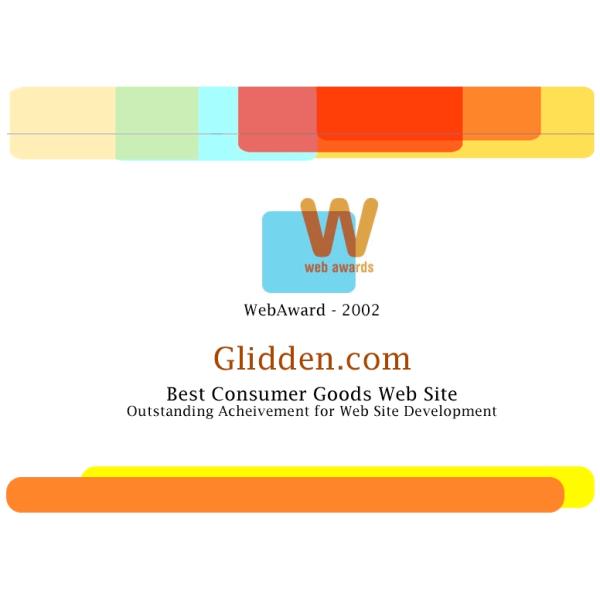 WebAward - Best Consumer Goods Website - 2002