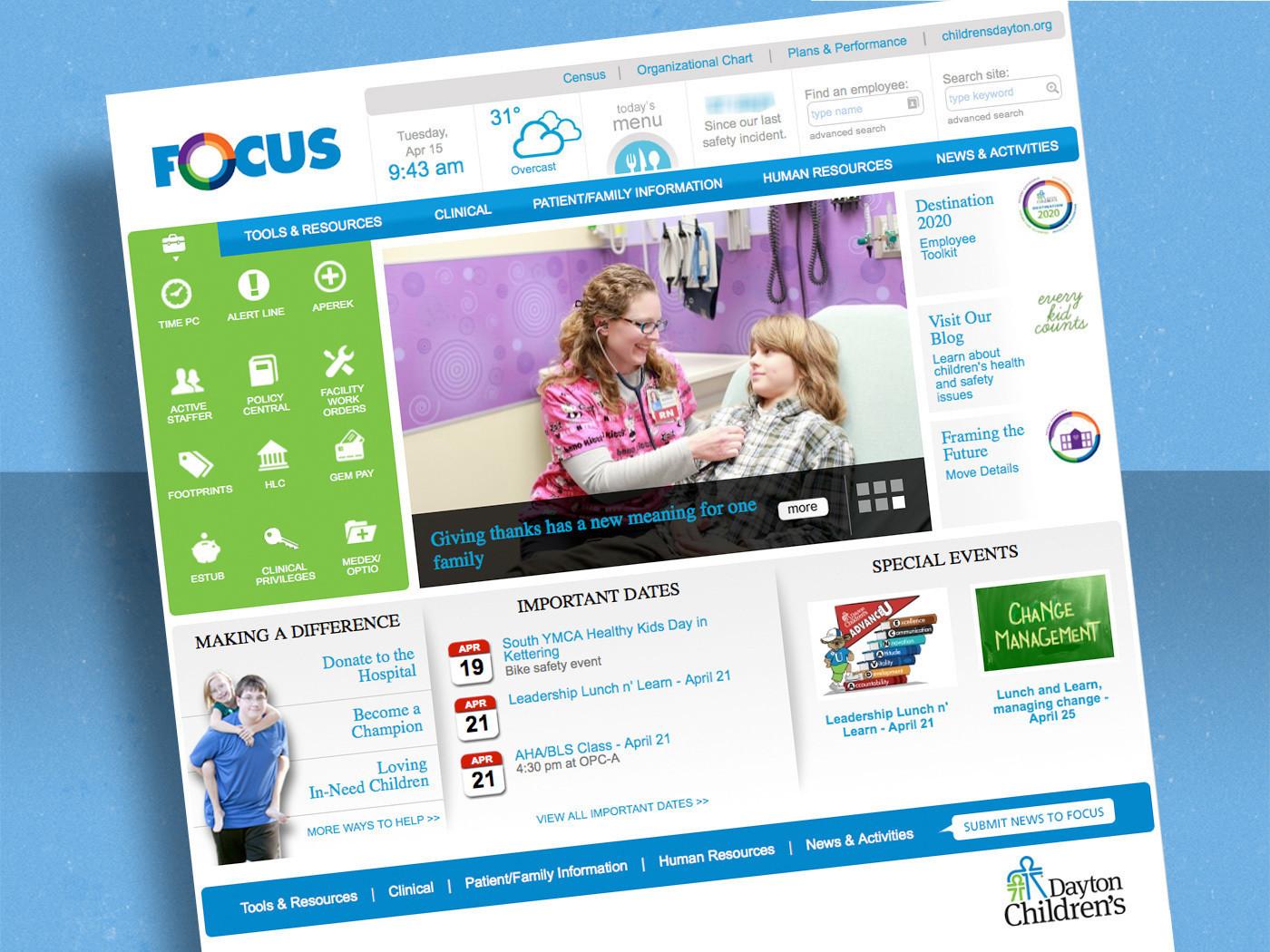 Dayton Children's Hospital Intranet (FOCUS)