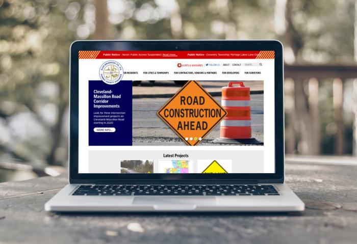 Summit County Engineer Website Redesign - Summit County Engineer, Ohio