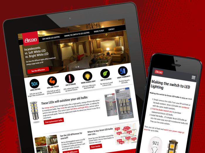 Arcon Lighting Responsive Website - Coast Distribution