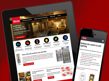 Arcon Lighting Responsive Website - Coast Distribution