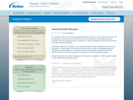 Nordson Corporation Supply Chain Central