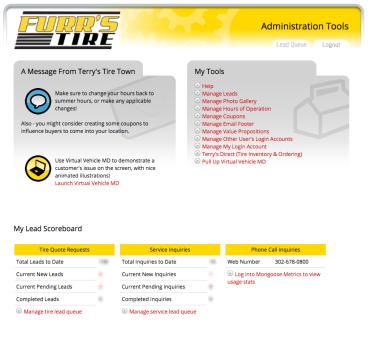 Dealer Admin Tools