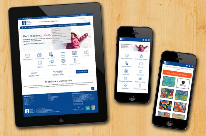 Responsive Website Redesign - Akron Children's Hospital
