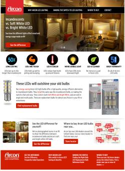 Arcon Lighting Responsive Website