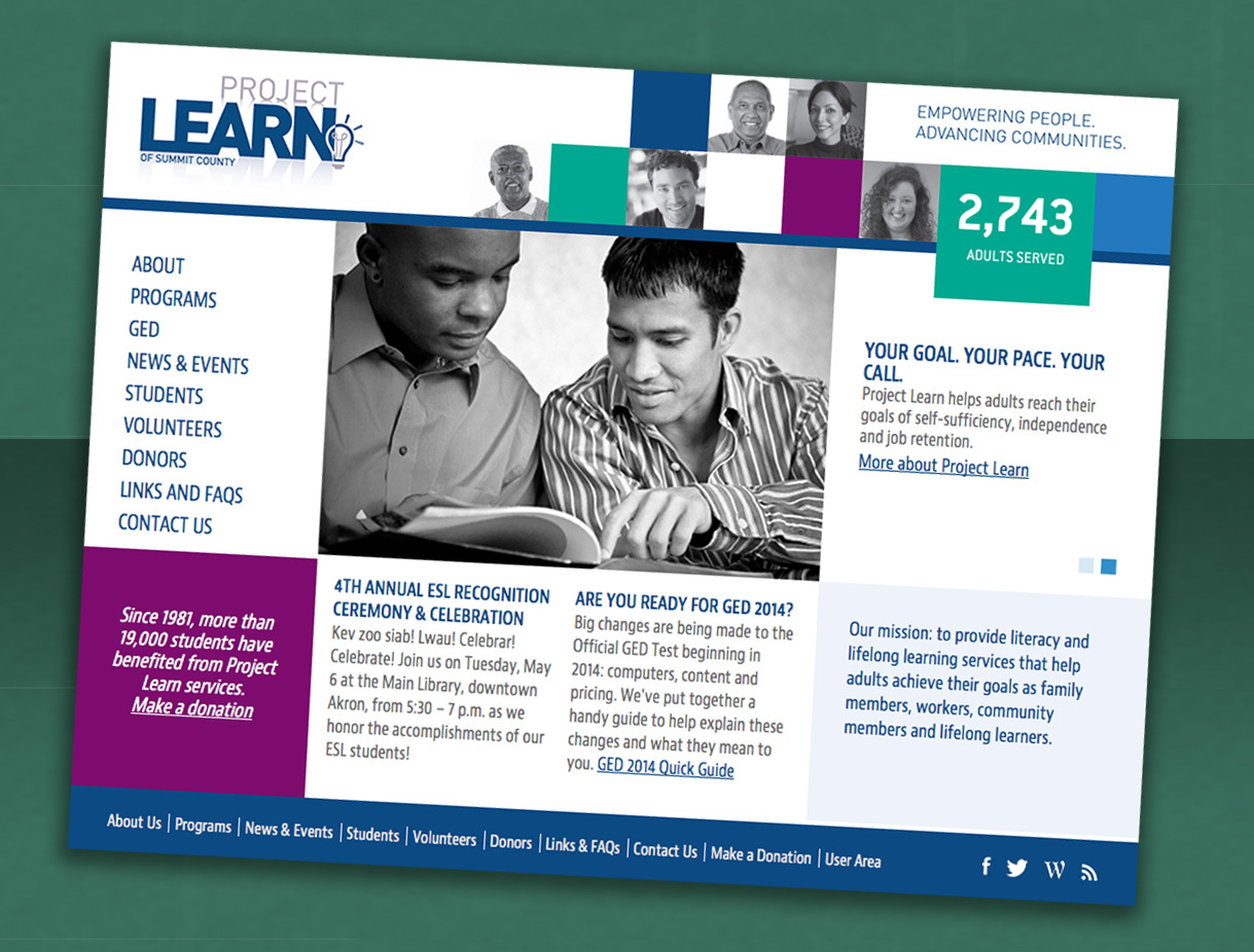 Project Learn of Summit County Website Redeign (Pro Bono)