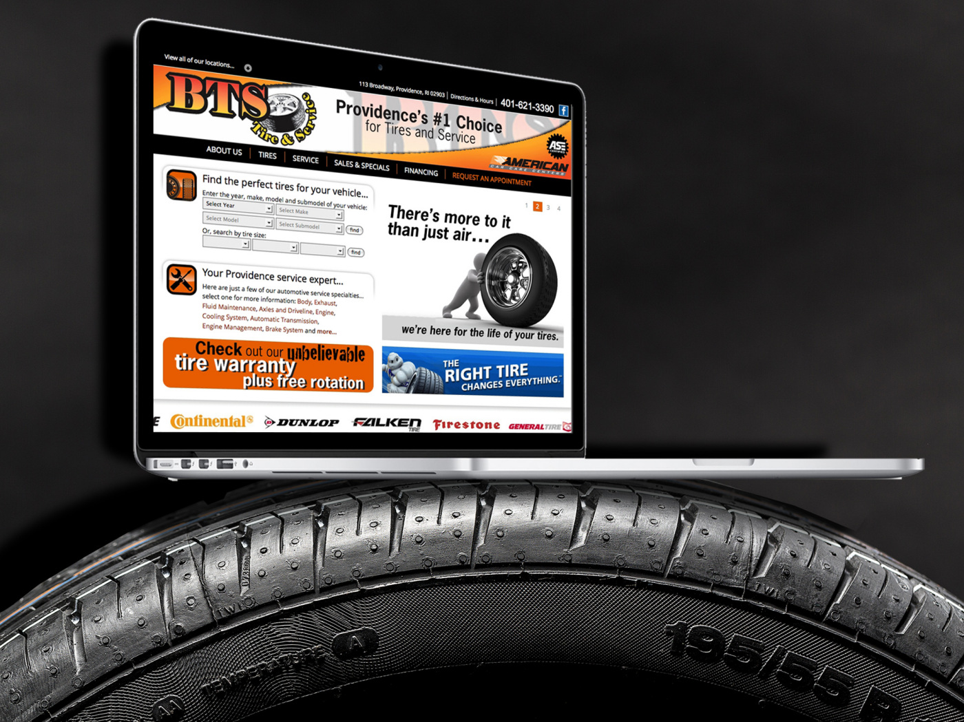 Terry's Tire Town Distributor Website Creator