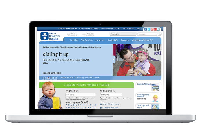 Akron Children's Hospital Web Site Wins Silver Award