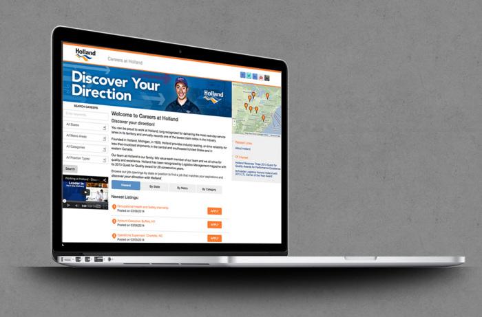 Career Listing & Online Job Application Website - Reddaway, Holland, and New Penn